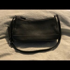 Vintage Black Leather Coach Small Bag Gently Used
